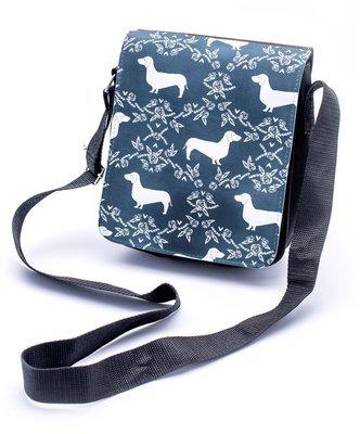 Black & White Dachshund Design Shoulder Bag - Design 2
