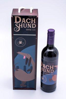 Long Dog Wine Box & Label - 2