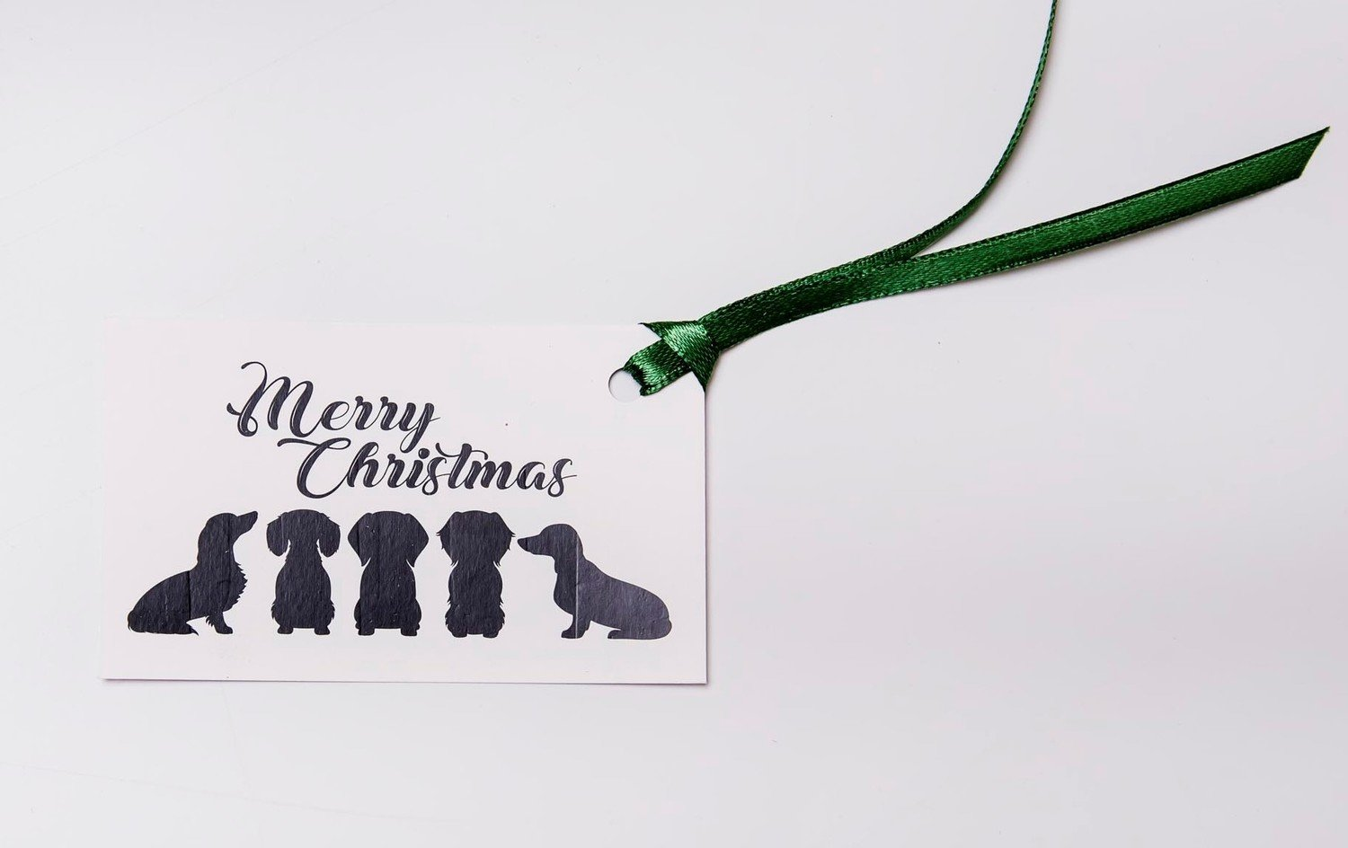 ​Christmas Gift Tags - Mixed Dachshunds - Black and White