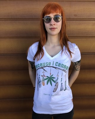 Because I Canna - Organic Cotton T-Shirt Womens Cut