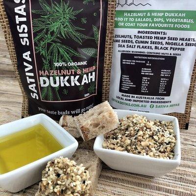 ORGANIC DUKKAH - HAZELNUT & HEMP 100G