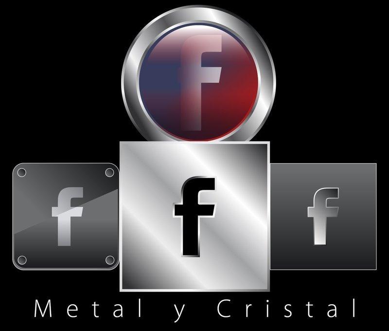 Colección Iconos Redes Metal y Cristal