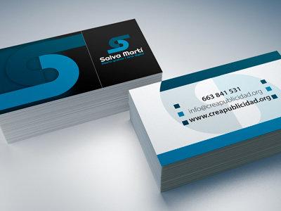 Diseño de tarjetas de visita (2 caras)
