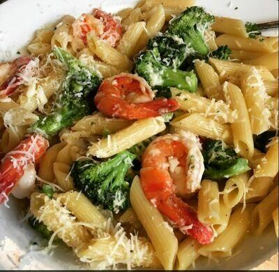 Shrimp, Penne & Broccoli
