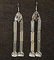 Earrings:  Double Dangles, Medium  3 1/2