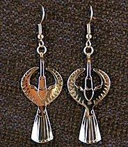 Earrings: Waterbird, 1-Piece, Medium 2