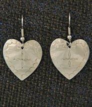 Earrings:  Hearts, Medium  1 1/4