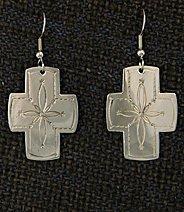 Earrings:  Southwest Crosses, Medium  1 1/2