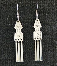 Earrings:  Traditional #3 with fringes, 1 3/4
