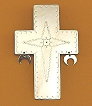 Pendant:  Cross with Dangles,  Style 2