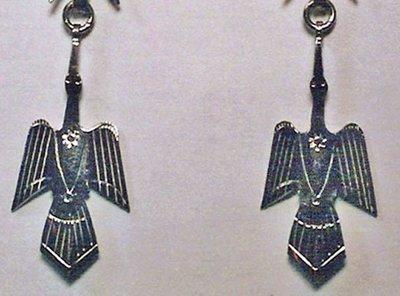 Earrings:  Waterbird, 1-Piece, Small  1 1/4