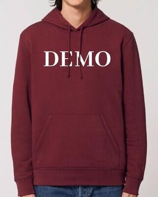 DEMO Hoodie // burgundy