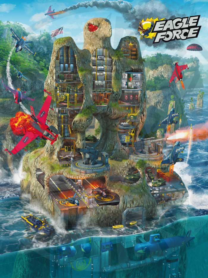 "Eagle Force Poster - Eagle Island: ""Attack on Eagle Island"" Limited Edition"