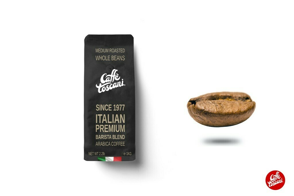 Caffè Toscani®, Arabica Roasted Coffee Beans 1Kg (2.2lb)
