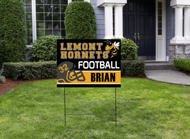 Hornet's Football Yard Sign