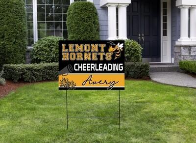 Hornet's Cheer Yard Sign