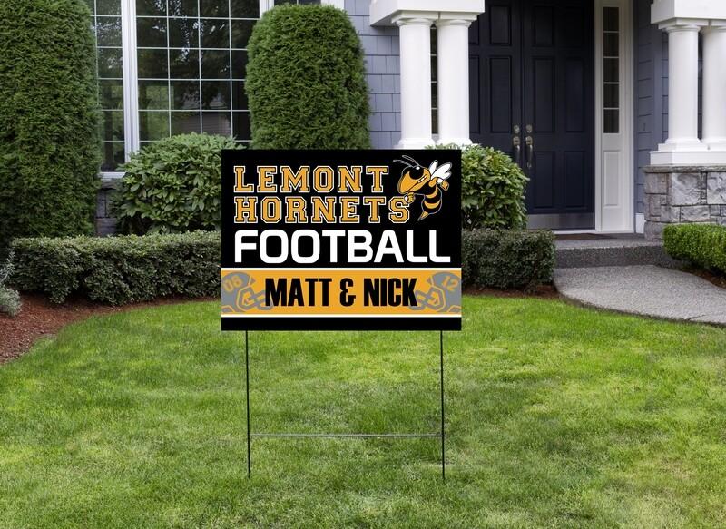 Hornet's Double Football Yard Sign