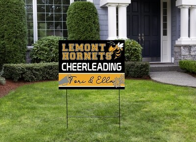 Hornet's Double Cheer Yard Sign