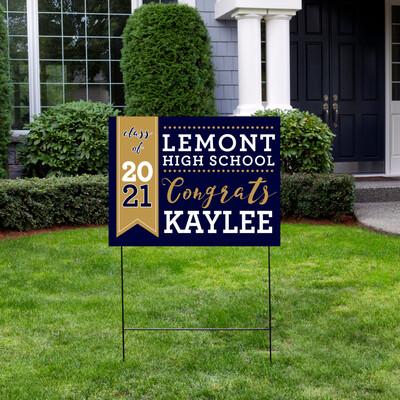 Lemont High School Graduation Yard Sign