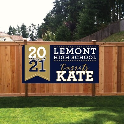 GRADUATION BANNER-4 SIZES AVAILABLE