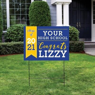 ANY SCHOOL-High School Graduation Yard Sign