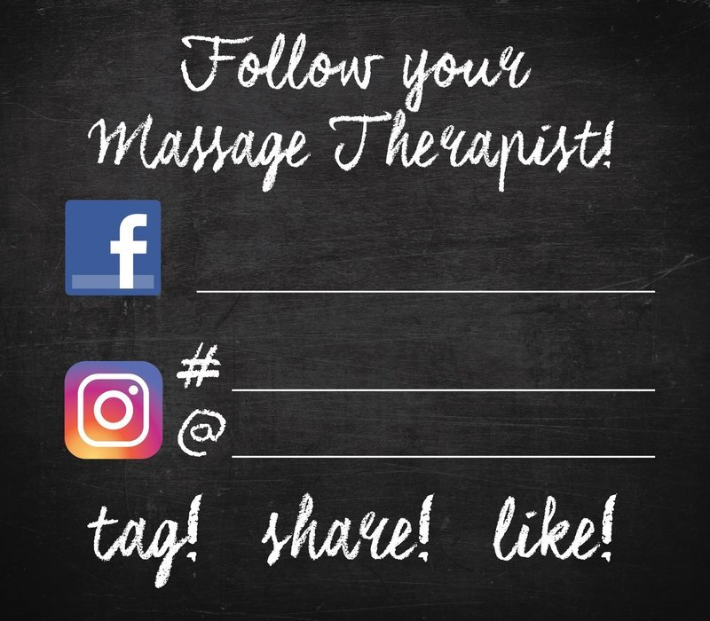 SALON MIRROR CLING-FOLLOW YOUR MASSAGE THERAPIST or NAIL TECH