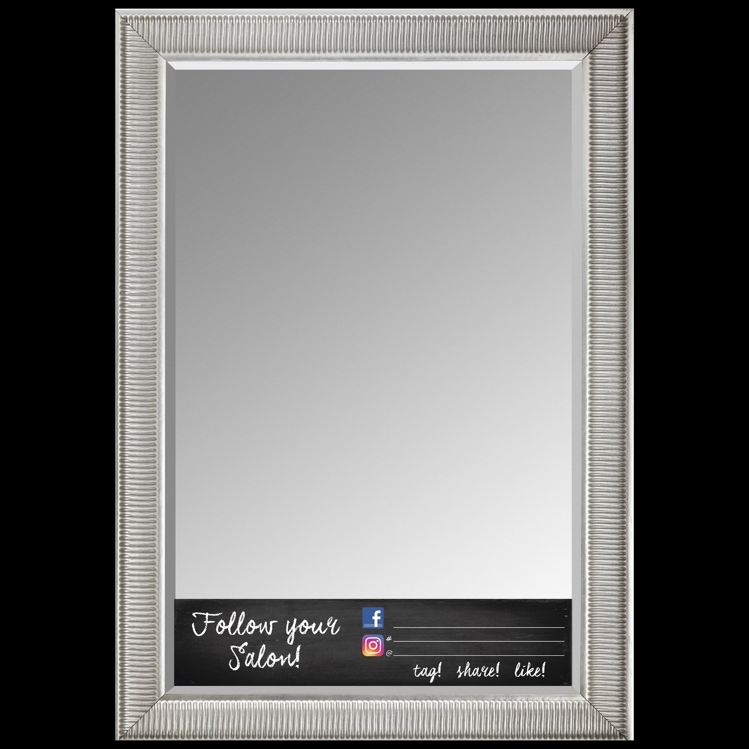 SALON OR STYLIST SOCIAL MEDIA MIRROR CLING-FULL LENGTH-24x7
