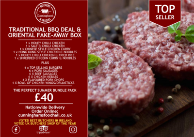 TRADITIONAL BBQ DEAL &  ORIENTAL FAKE-AWAY BOX