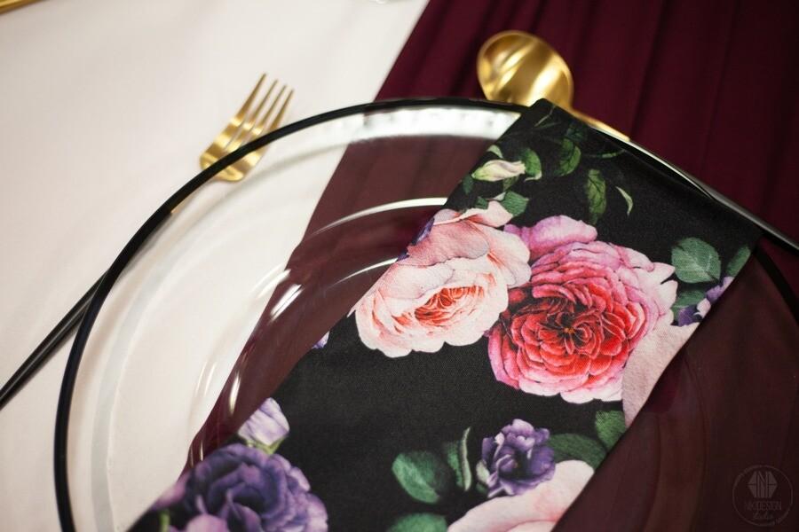 Napkin set of 4 - full floral print