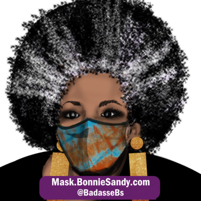 NYC Blues  2 Face Cover Mask