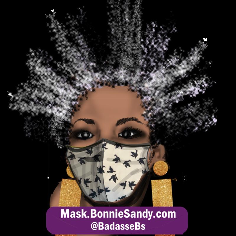 Black Bird Diva Face Cover Mask
