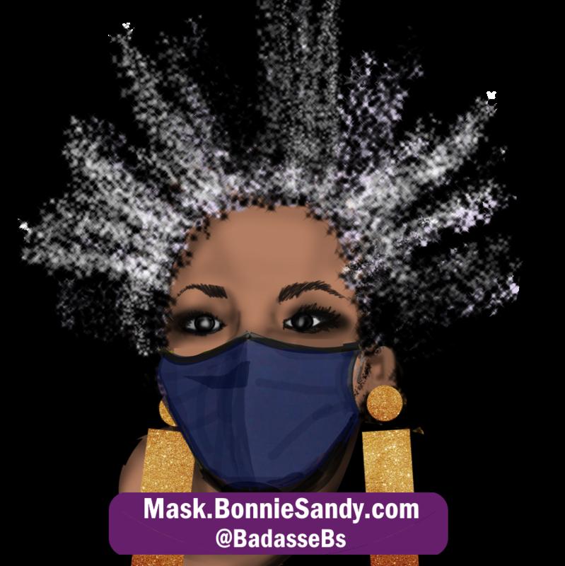 Denim Face Cover Mask