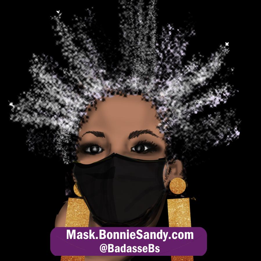 Gun Metal Black Face Cover Mask