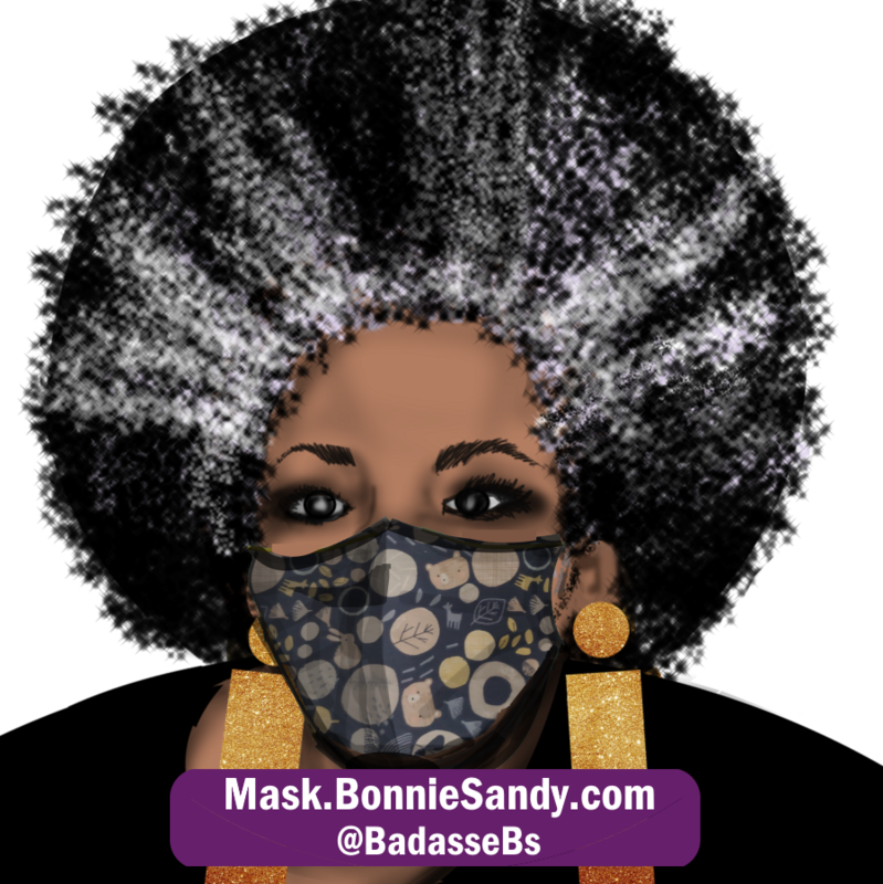 Navy Whimsey Face Cover Mask