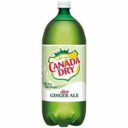 Canada Dry Diet Ginger Ale - 1 Liter - Case of 12