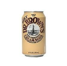 Dr. Browns Diet Cream Soda Cans 12 oz  Case of 24