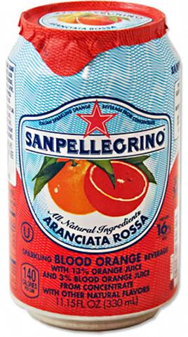 San Pellegrino 24/11.15 oz can Aranciata Rossa (Blood Orange)