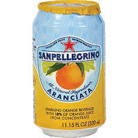 San Pellegrino 24/11.15 oz. can  Aranciata (Orange)