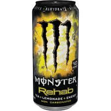 Monster Energy Rehab Lemonade 16 oz - Case of 24