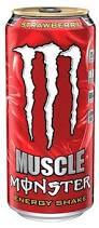 Monster Muscle Strawberry 15 oz - Case of 12