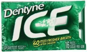 Dentyne Ice Gum Spearmint  9 Count/16 pieces