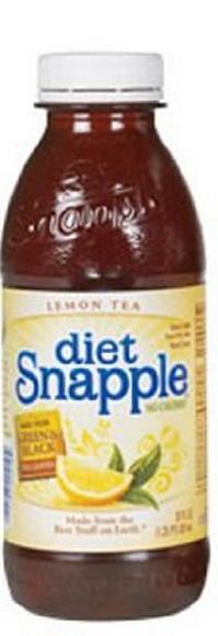 Snapple 20 oz (Plastic) - Diet Lemon - Case of 24