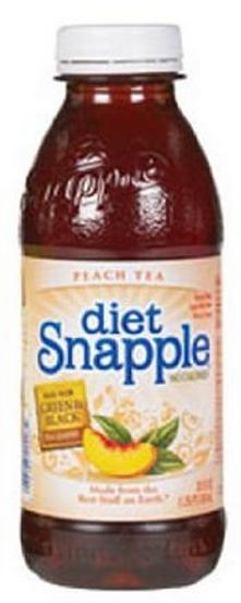 Snapple 20 oz (Plastic) - Diet Peach - Case of 24
