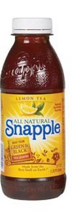 Snapple 20 oz (Plastic) - Lemon - Case of 24