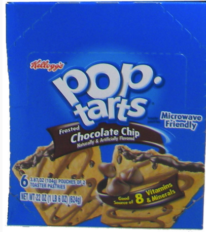 Kellog's Pop Tarts - Chocolate Chip 6/2 packs