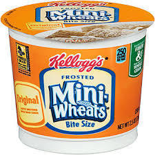 Cereal Cups Frosted Mini Wheats 6 pack