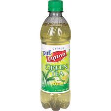 Diet Lipton Green Tea - 20 oz - Case of 24