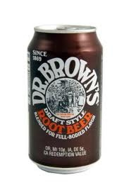 Dr. Browns Root Beer Soda Cans 12 oz - Case of 24