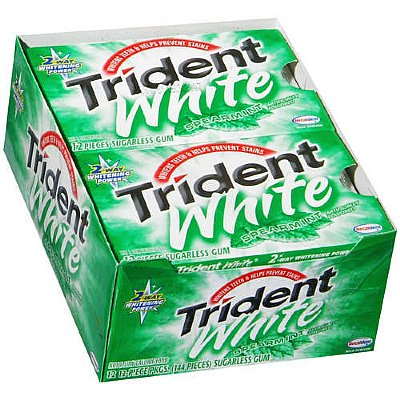 Trident White Gum - Spearmint - 12 Count