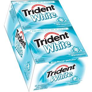 Trident White Gum - Wintergreen - 12 Count